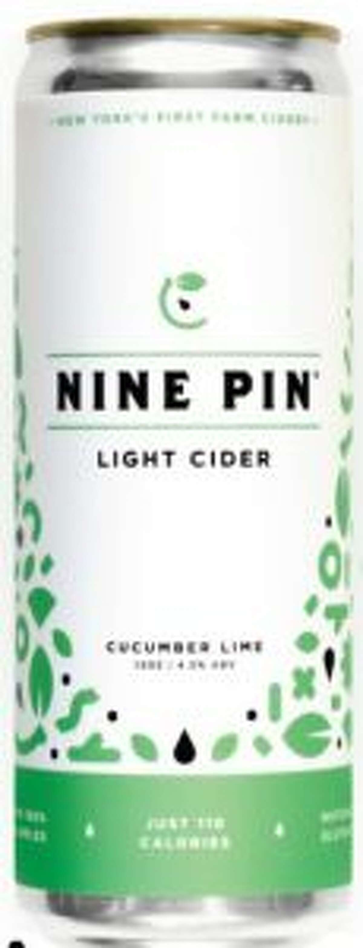 Nine Pin Cider Works in Albany introduces its first light cider, a lime- and cucumber-flavored beverage that has about 30 percent fewer calories and alcohol than its Signature Cider.