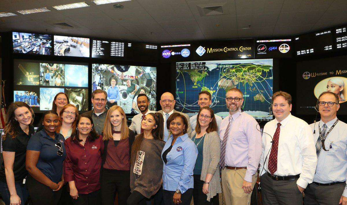 Ariana Grande spent time at NASA ahead of a recent Houston show.