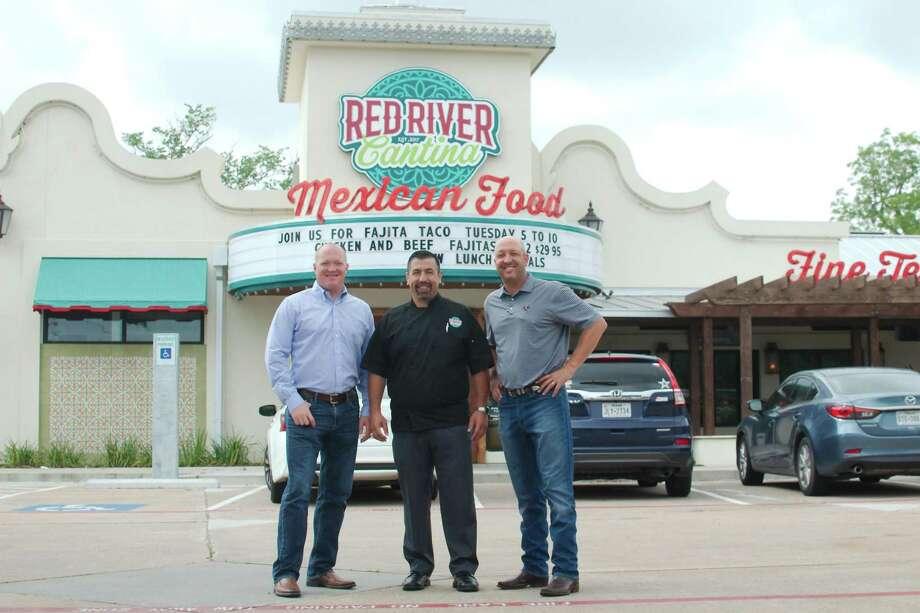 Owner Kevin Kiersh, concept leader Jim Molina and owner Ric Kiersh opened Red River Cantina in League City on the same property as the Kiersch's Red River Barbecue. Photo: Kirk Sides / Staff Photographer / © 2019 Kirk Sides / Houston Chronicle