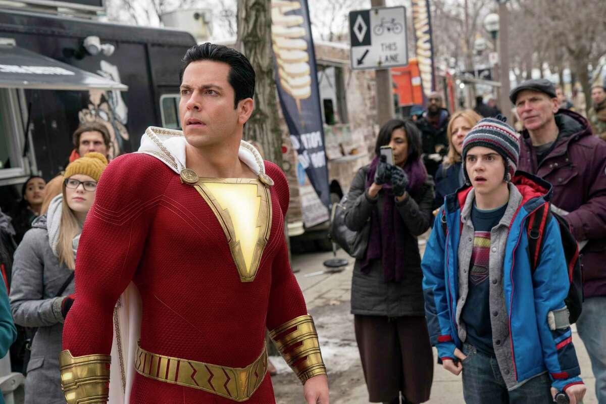 Superhero Shazam (Zachary Levi) is still a kid at heart.
