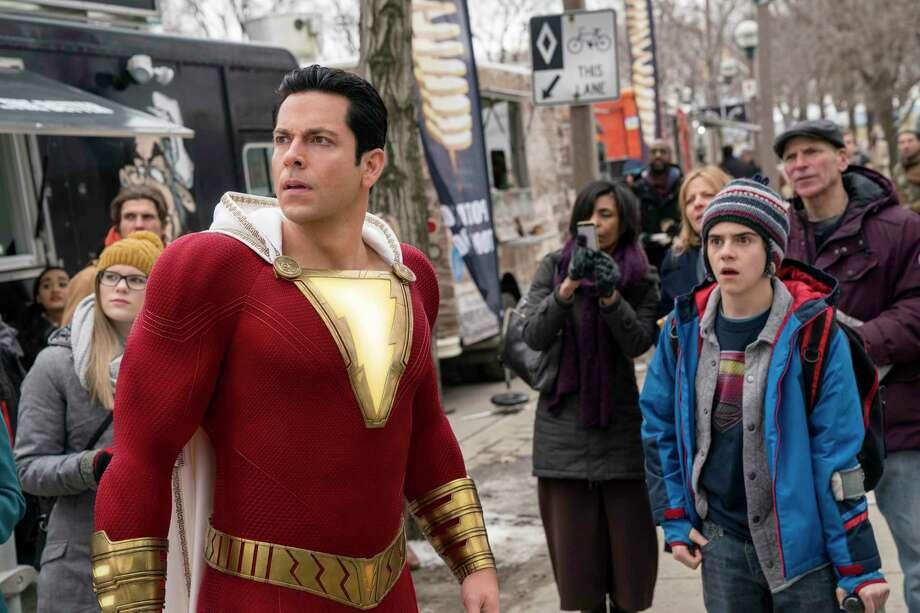 Superhero Shazam (Zachary Levi) is still a kid at heart. Photo: Steve Wilkie /Warner Bros. / Warner Bros. Entertainment