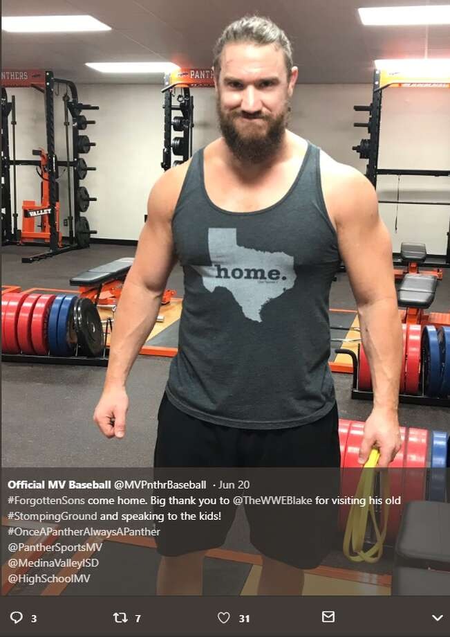 WWE NXT Superstar Wesley Blake returned to his alma mater at Medina Valley High School. The Medina Valley High School baseball team posted about the visit on its Twitter feed, thanking him for speaking to the athletes.