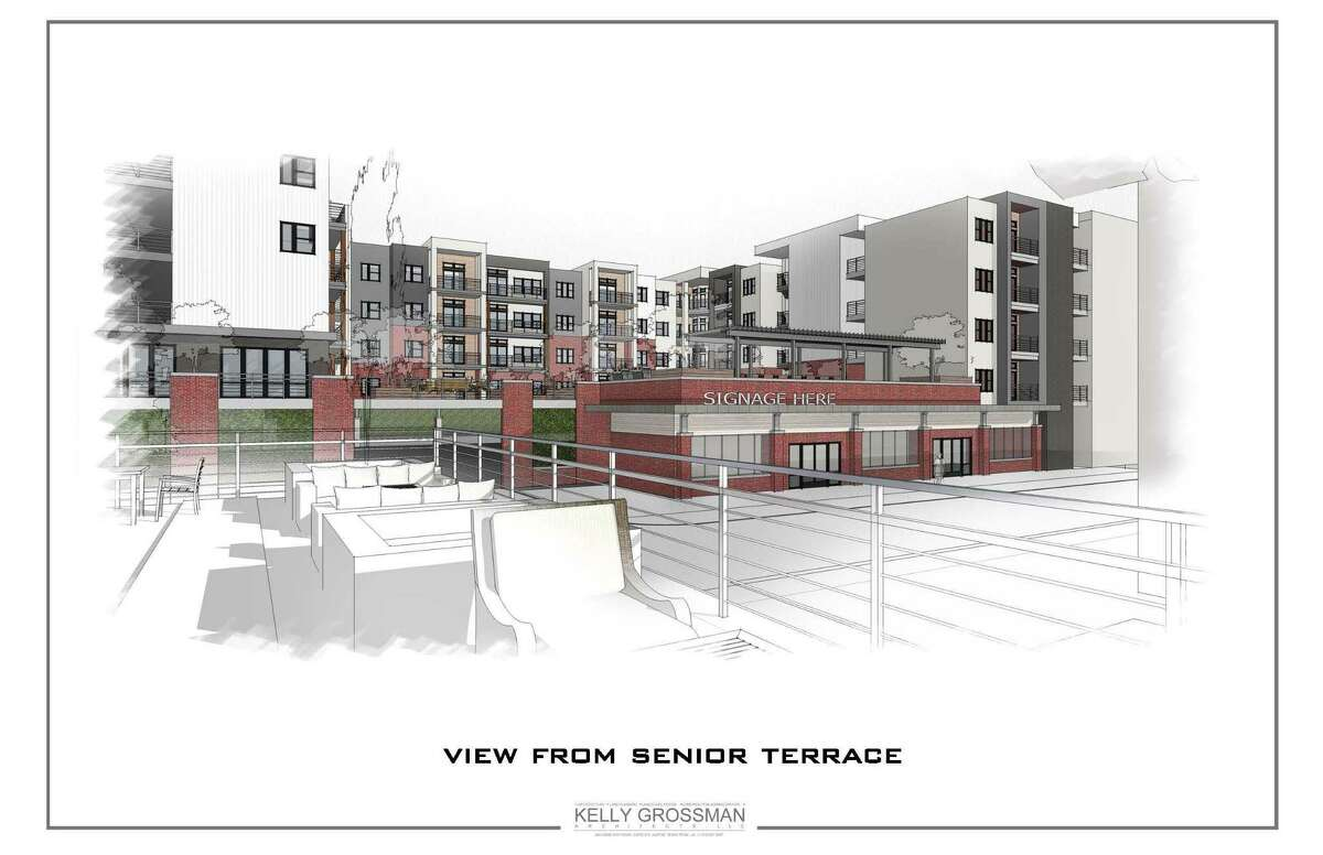 A rendering of an affordable housing project proposed by the NHP Foundation for Houston's Third Ward, a rapidly gentrifying neighborhood in central Houston. NHP is teaming up with non-profit community development corporations before the cost of land and housing becomes too high and opposition too strong to keeping long-term residents in the neighborhood.