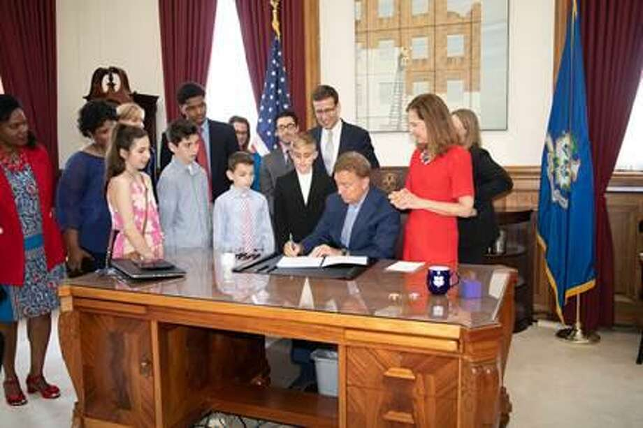 Legislation championed by state Sen. Matt Lesser, D-Middletown, which will provide expanded access to life-saving epinephrine to the public, was signed into law by Gov. Ned Lamont. Photo: Contributed Photo