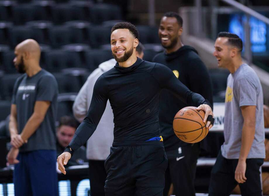 FILE - In this May 29, 2019 file photo, Golden State Warriors guard Stephen Curry smiles during practice for the NBA Finals against the Toronto Raptors in Toronto. The Golden State Warriors superstar is strategically producing content that focuses on sports, family and faith through Unanimous Media, which he co-founded with Jeron Smith and Erick Peyton. The newly-formed production company already has several projects under its belt including a major studio film, network television show and a couple documentaries in just a year. (Nathan Denette/The Canadian Press via AP, File) Photo: Nathan Denette, SUB / Associated Press / The Canadian Press