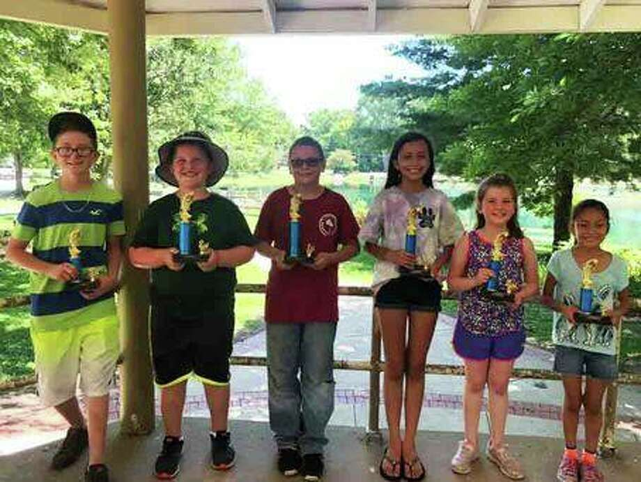 Six Leclaire Lake Fishing Derby winners announced by Edwardsville Parks and Recreation Department. Photo: Courtesy Of Edwardsville Parks And Recreation