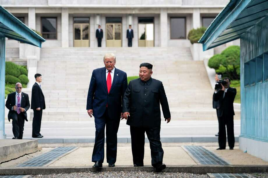 President Donald Trump has heaped praise on dictators such as Kim Jong Un, the ruthless North Korean leader, but his actions matter more than his words. Photo: Erin Schaff /NYT / NYTNS