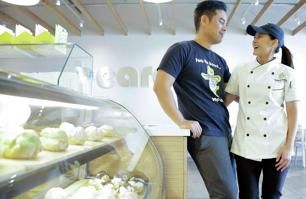Beard Papa's franchise owners Eric Leong and his wife, Jennifer Nguyen, traded their corporate accounting jobs to operate Texas' first Beard Papa franchise but they had to work hard to get it.