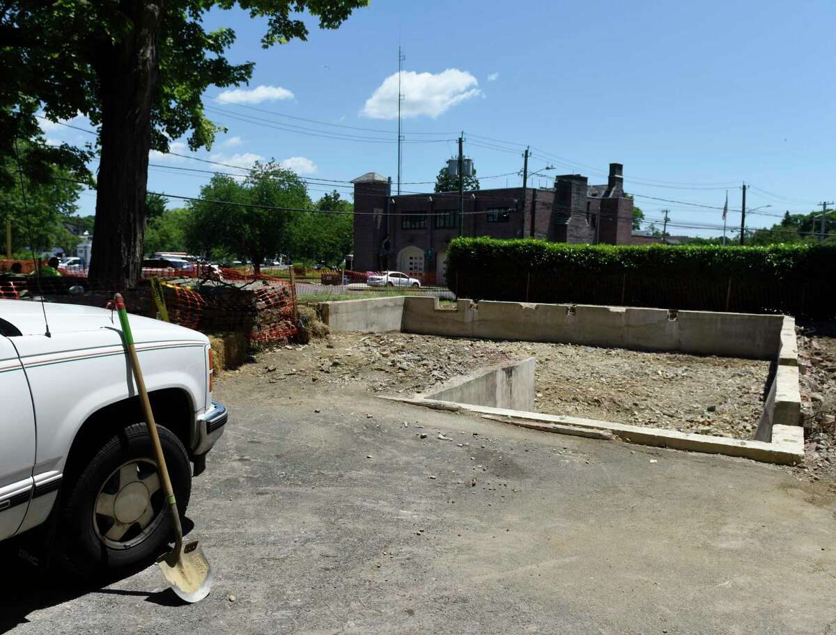 Construction on the new Pathways Fellowship Club continues after demolition of the previous building in the Cos Cob section of Greenwich, Conn. Monday, July 1, 2019. The Pathways Fellowship Club, previously located in an unsightly structure that was just demolished, connects adults living with severe and chronic mental illness through a variety of programs designed to build confidence and competencies, connections and engagement.