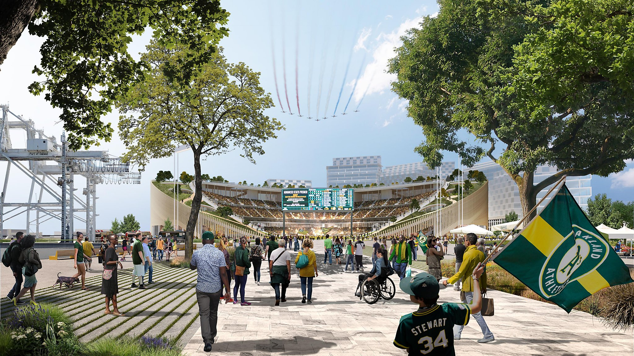 For all the talk of a pedestrian-friendly new A's stadium, fans expected to drive