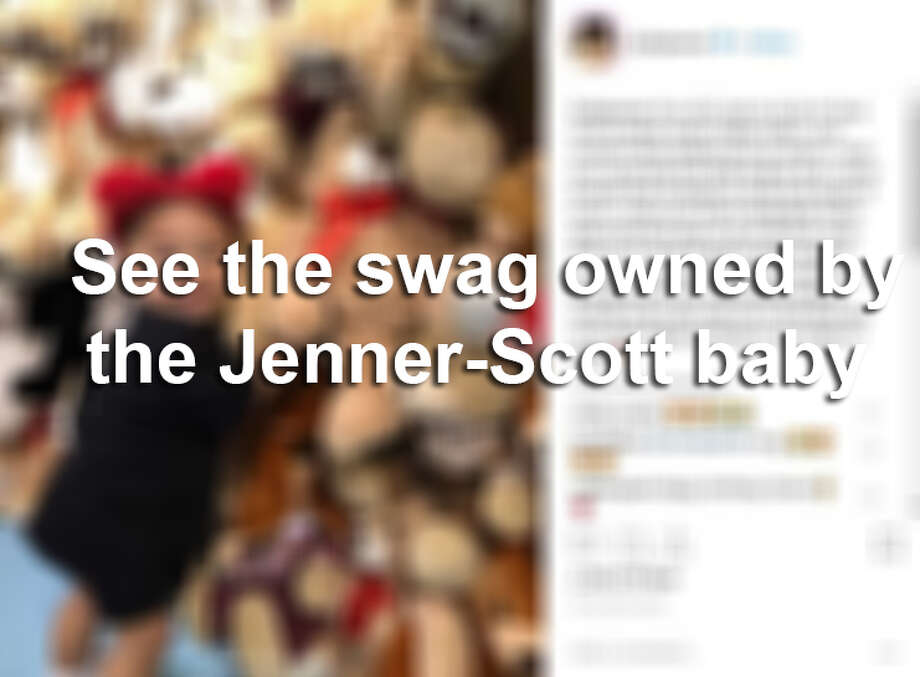 Keep clicking to see some of the expensive gifts owned by the Jenner-Scott baby. Photo: Instagram