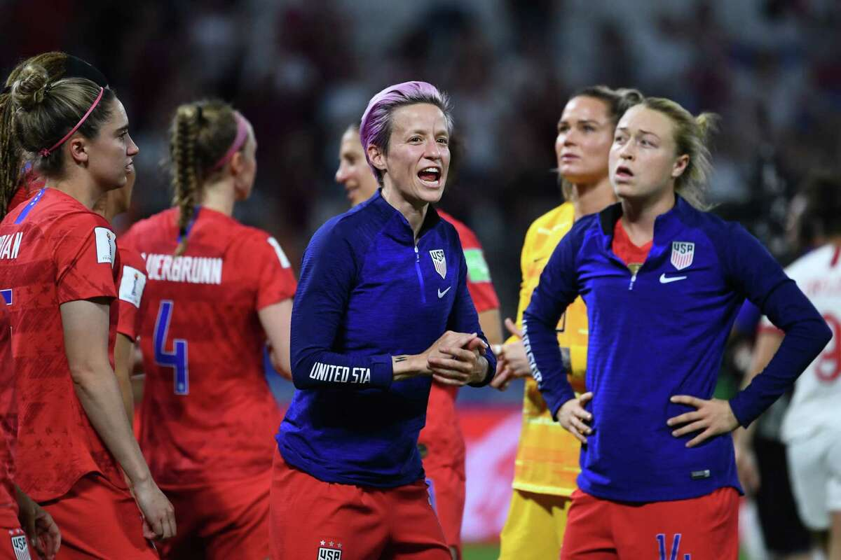 Sat out Tuesday's game with a hamstring injury After the United States' 2-1 win over England on Tuesday, Rapinoe said she had tweaked her hamstring late in the quarterfinal win, after scoring two goals. She said she plans to be able to play in Sunday's final.