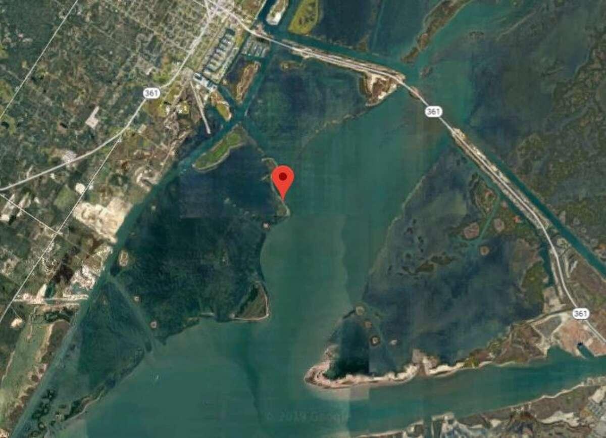 Google Maps shows the area of Ransom Island near Aransas Pass.