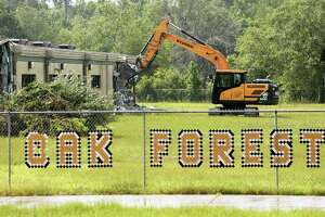 Work crews started demolition this week on Oak Forest Elementary in Vidor. The city's Superintendent Jay Killgo said Tuesday that the district's FEMA claim was settled at $13.8 million and that construction on the new school is expected this spring with hopes of filling classrooms by fall of 2021. Killgo added the district is expecting a similar response from FEMA regarding Vidor Middle School in the next few weeks.  Go to beaumontenterprise.com for more photos of the demolition. Photo taken Tuesday, 7/2/19