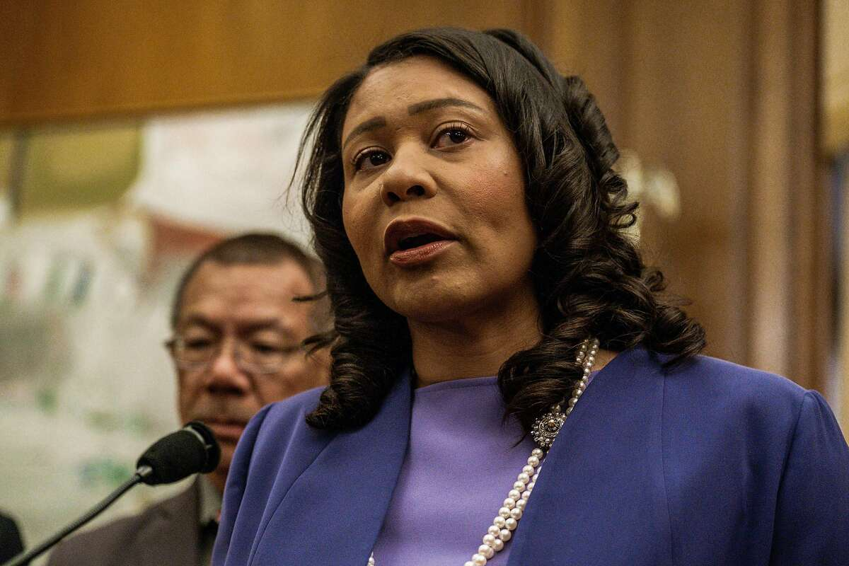 June 28, 2019 -Mayor London Breed speaks at a press conference at City Hall. The San Francisco Department of Public Health will announce today that a number of patients at Laguna Honda suffered systemic abuse at the hands of hospital staff. The CEO has been fired and the city is believed to be pursuing criminal charges against the alleged abusers. Six employees engaged in physical abuse of 23 dementia patients between 2016-2019. Employees also filmed each other mocking and yelling at patients. (Nick Otto Special to the Chronicle)