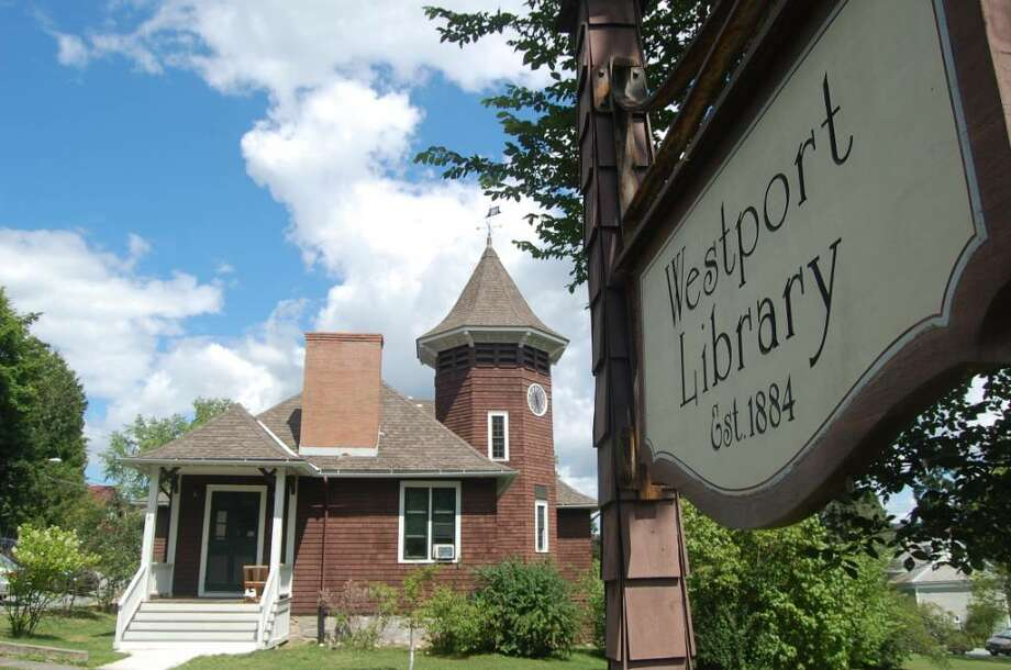 There are 17 Westports throughout the country, including this one in upstate New York. The library is located downtown on a large green, much like in Westport, Conn. Photo: Anthony Karge / Westport News