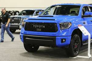 A row of Toyota Tundras are seen at the 50th Annual San Antonio Auto & Truck Show at the Henry B. Gonzalez Convention Center on Thursday, Nov. 15, 2018.   The public is invited to check out over 400 vehicles on display as the San Antonio Auto Dealers Association marks the 50th year of the show. Along with the latest vehicles from domestic and import markets, an exhibit of vehicles spanning 50 years are also on display to mark the occasion. The show runs from Thursday through Sunday. (Kin Man Hui/San Antonio Express-News)