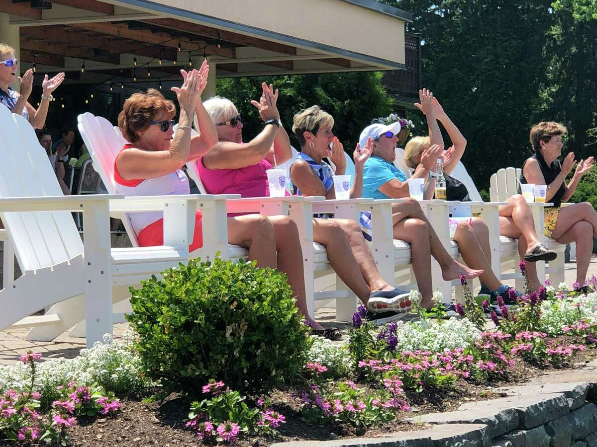 Players cheer and watch a playoff during the Capital District Women's Open on June 26, 2019, at Mohawk. The Capital District Women?s Open was resurrected in 2018 after a 2-year hiatus. In both 2018 and 2019, there were 80 participants in the better-ball of partners event. (Joyce Bassett / Times Union)