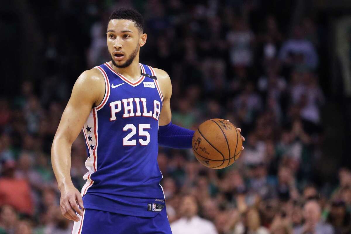 BOSTON, MA - MAY 3: Ben Simmons #25 of the Philadelphia 76ers dribbles against the Boston Celtics during the second quarter of Game Two of the Eastern Conference Second Round of the 2018 NBA Playoffs at TD Garden on May 3, 2018 in Boston, Massachusetts. (Photo by Maddie Meyer/Getty Images)