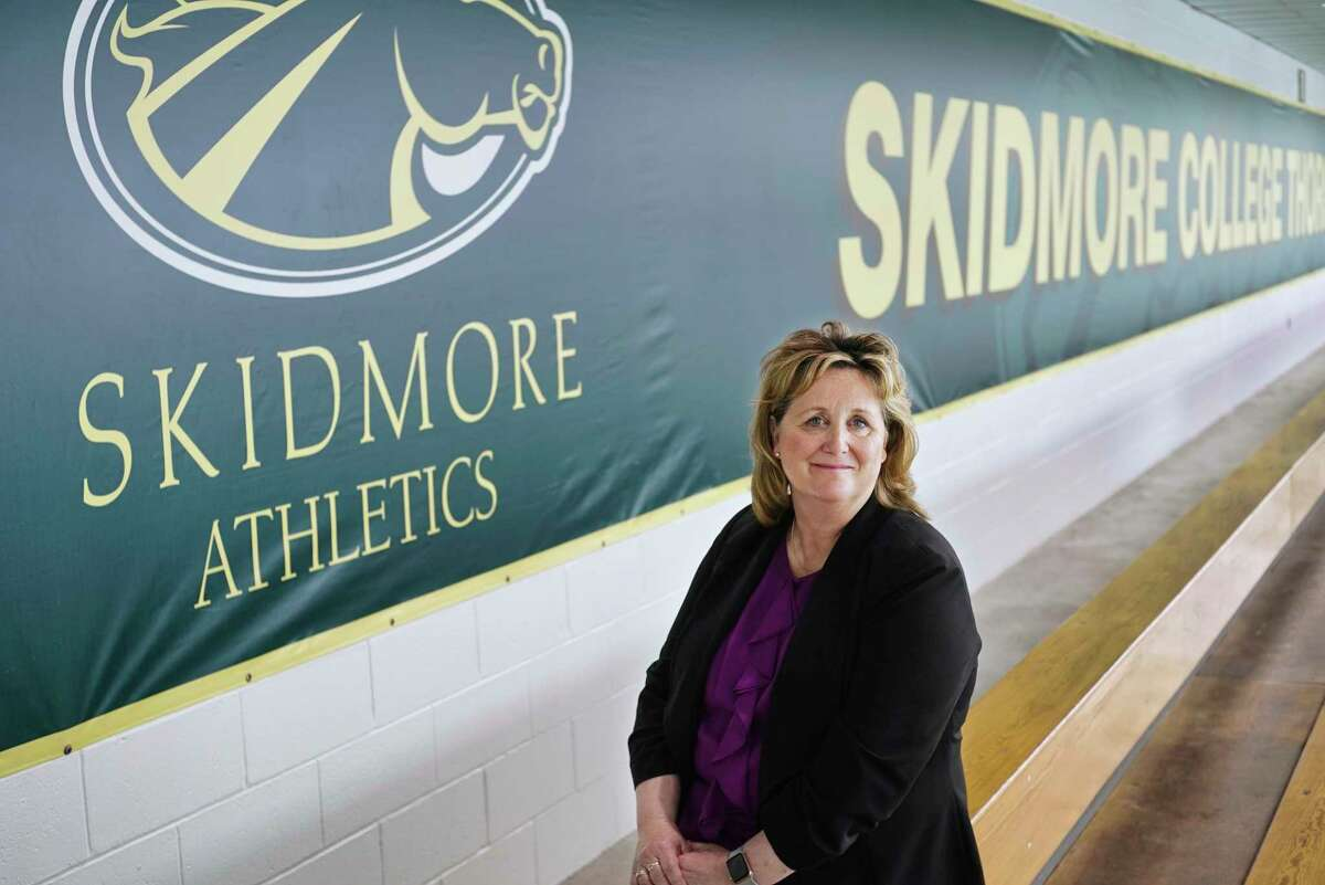 Skidmore College Athletic Director Gail Cummings-Danson poses for a photo at the college on Wednesday, May 15, 2019, in Saratoga Springs, N.Y. (Paul Buckowski/Times Union)