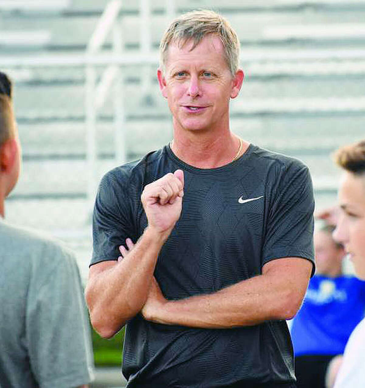 Edwardsville 's Mark Heiderscheid led his Tigers to an 11-3-3 mark, Southwestern Conference and Class 3A regional titles and is the 2018 Telegraph Large-Schools Boys Soccer Coach of the Year.