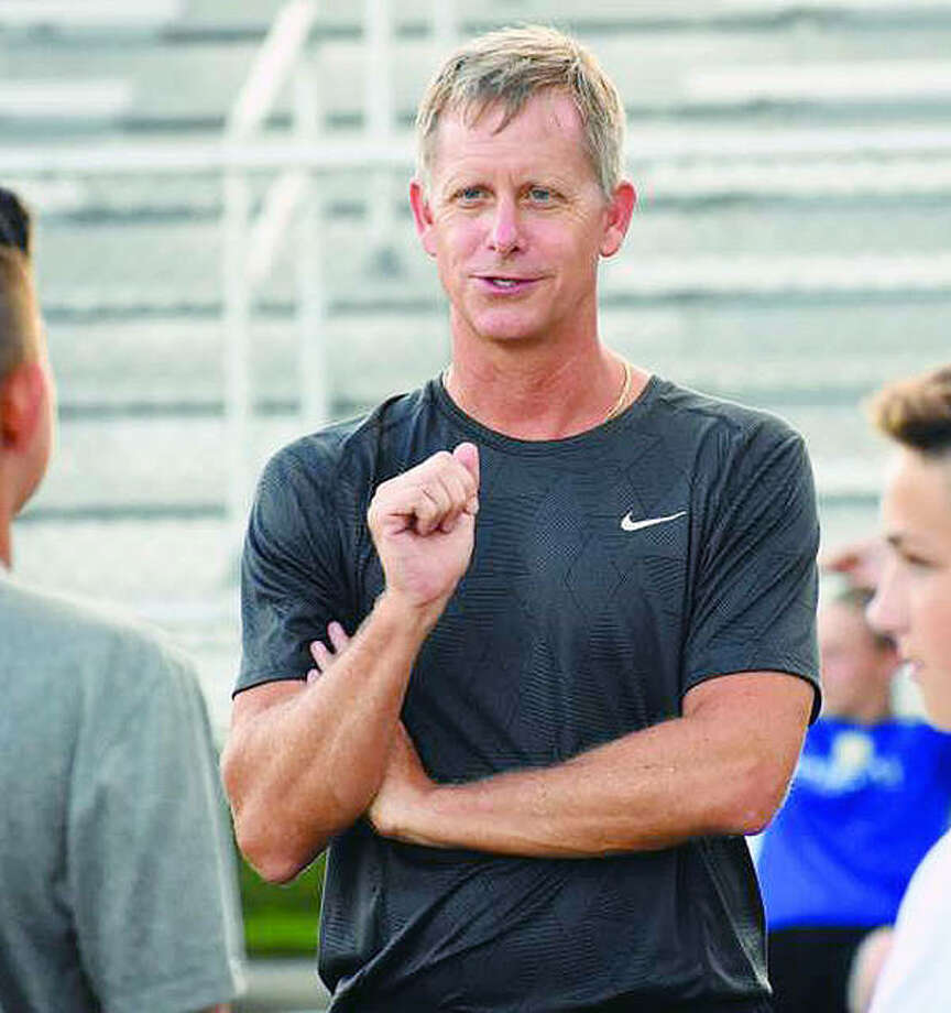 Edwardsville 's Mark Heiderscheid led his Tigers to an 11-3-3 mark, Southwestern Conference and Class 3A regional titles and is the 2018 Telegraph Large-Schools Boys Soccer Coach of the Year. Photo: File Photo