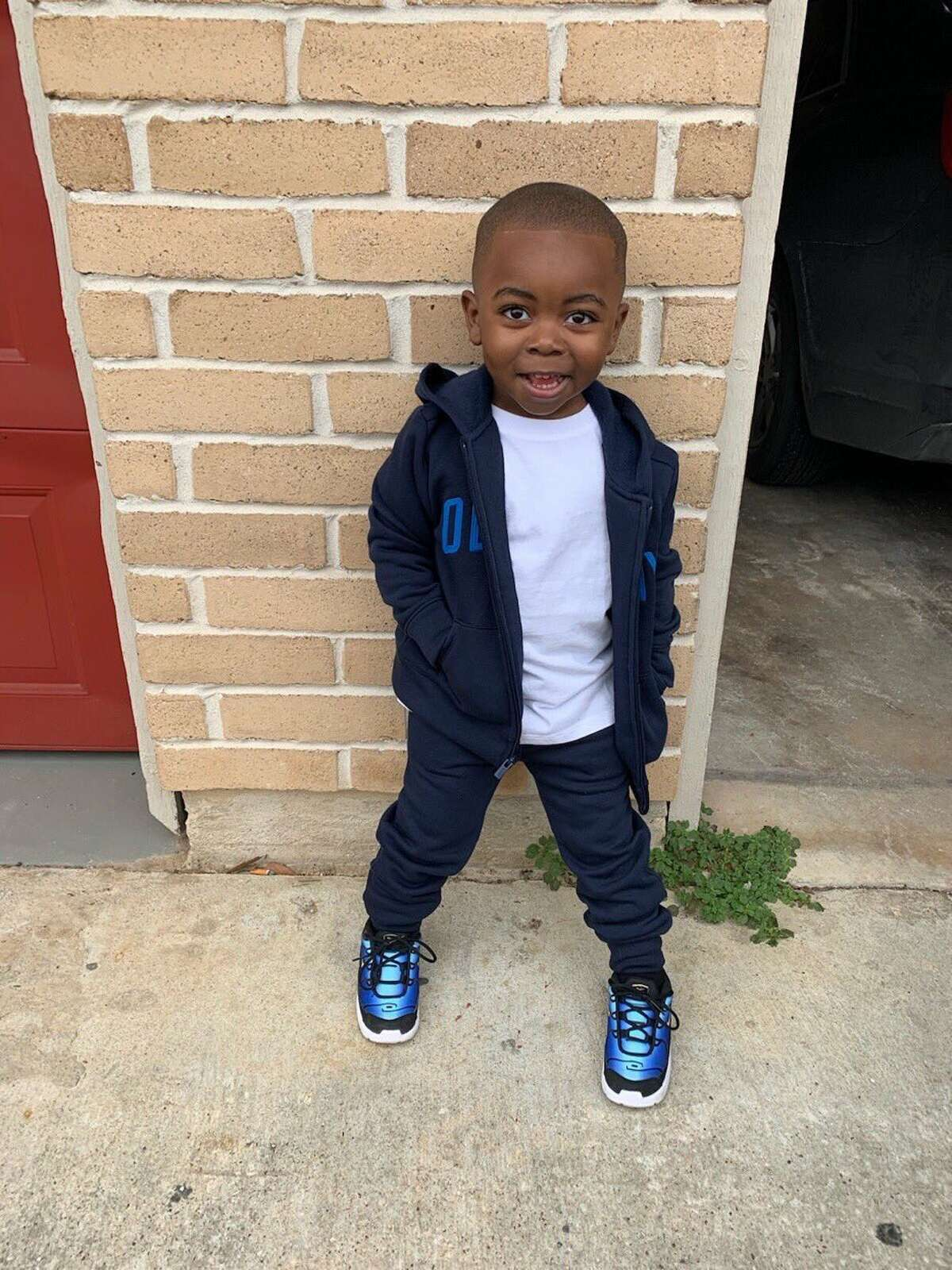 """Harris County Sheriff released this photo of the 2-year-old victim, who he identified only as """"TJ."""""""