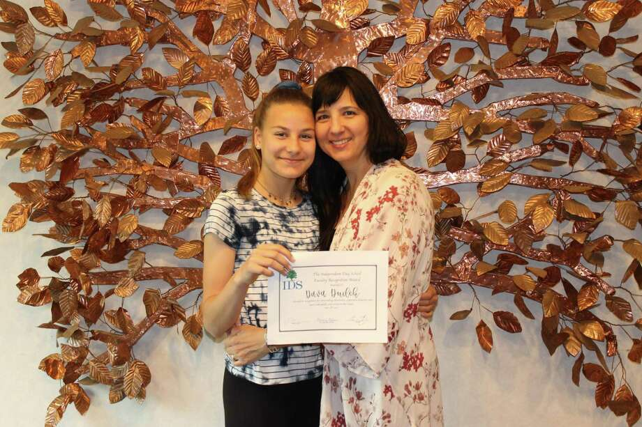 Independent Day School student Dava Dudek is shown with her mother Jodie. Photo: Contributed Photo