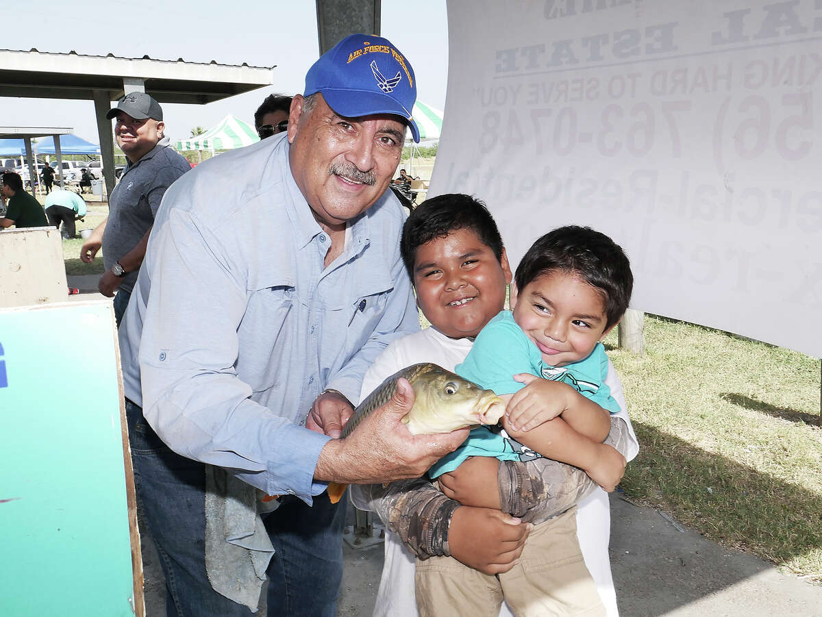 Locals gather at Lake Casa Blanca for the annual Fishing Derby.