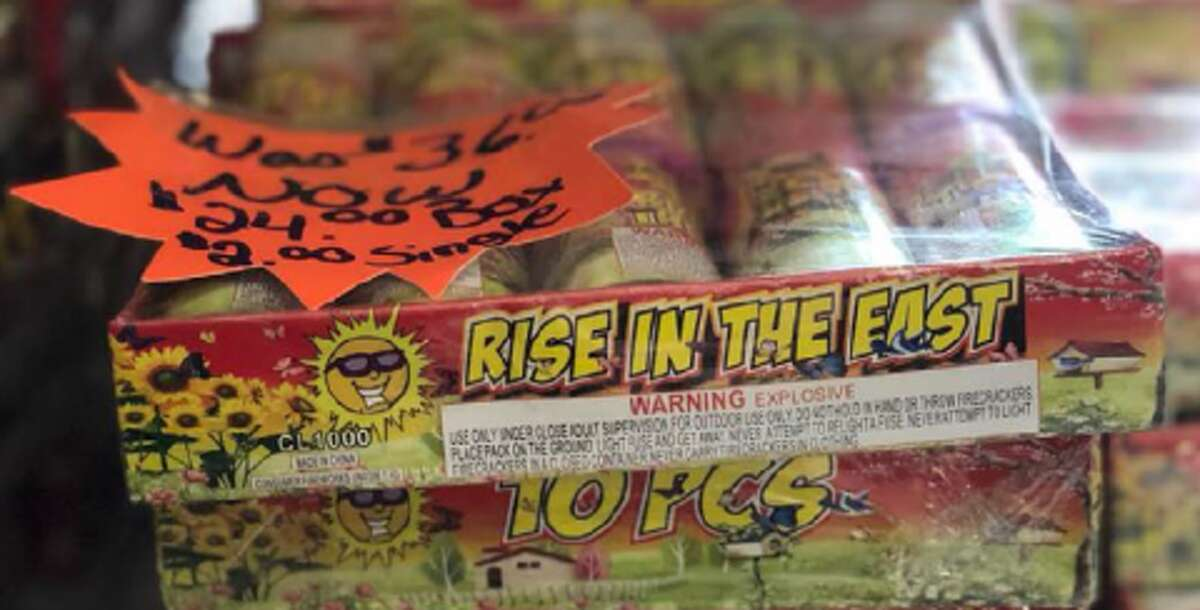 Rise in the East were among the fireworks recalled.