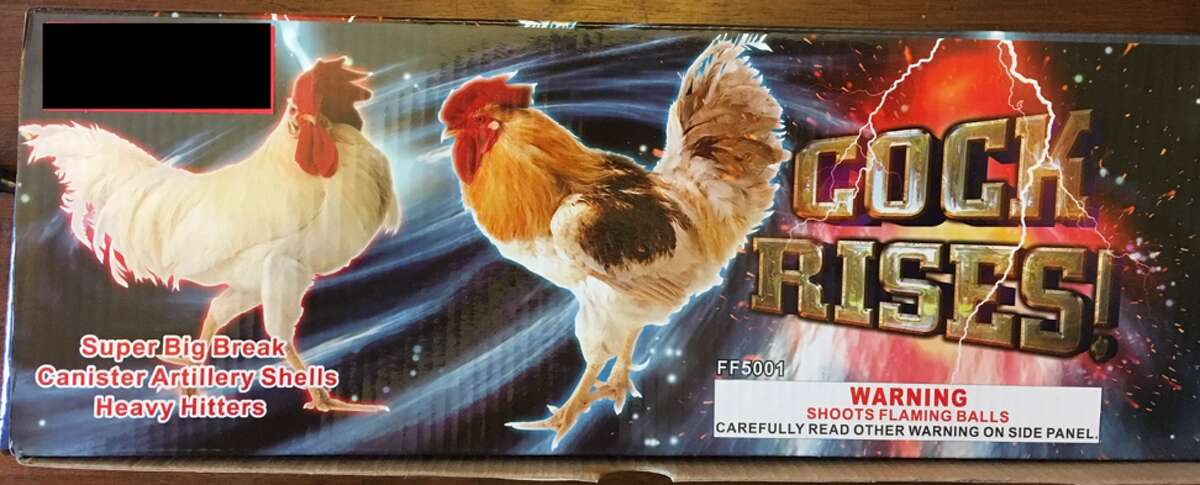 Cock Rises!were among the fireworks recalled.