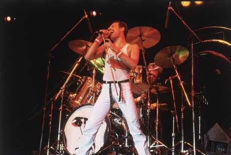 Freddie Mercury, lead singer of 70s hard rock quartet Queen, in concert in Milton Keynes on June 5, 1982. (Hulton Archive/Getty Images/TNS)