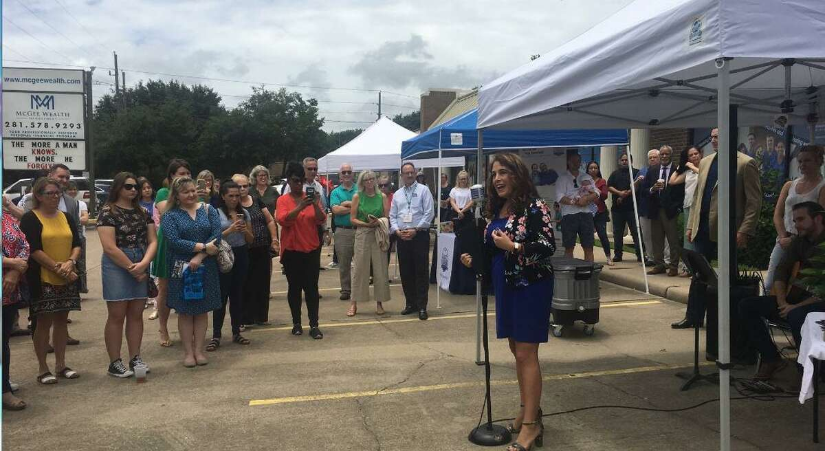 District 132 state Rep. Gina Calanni, D-Katy/Cypress presented a certificate to the Kingsland Community Center at a June 30 open house. The center is a partnership between Kingsland Baptist Church and six nonprofits.