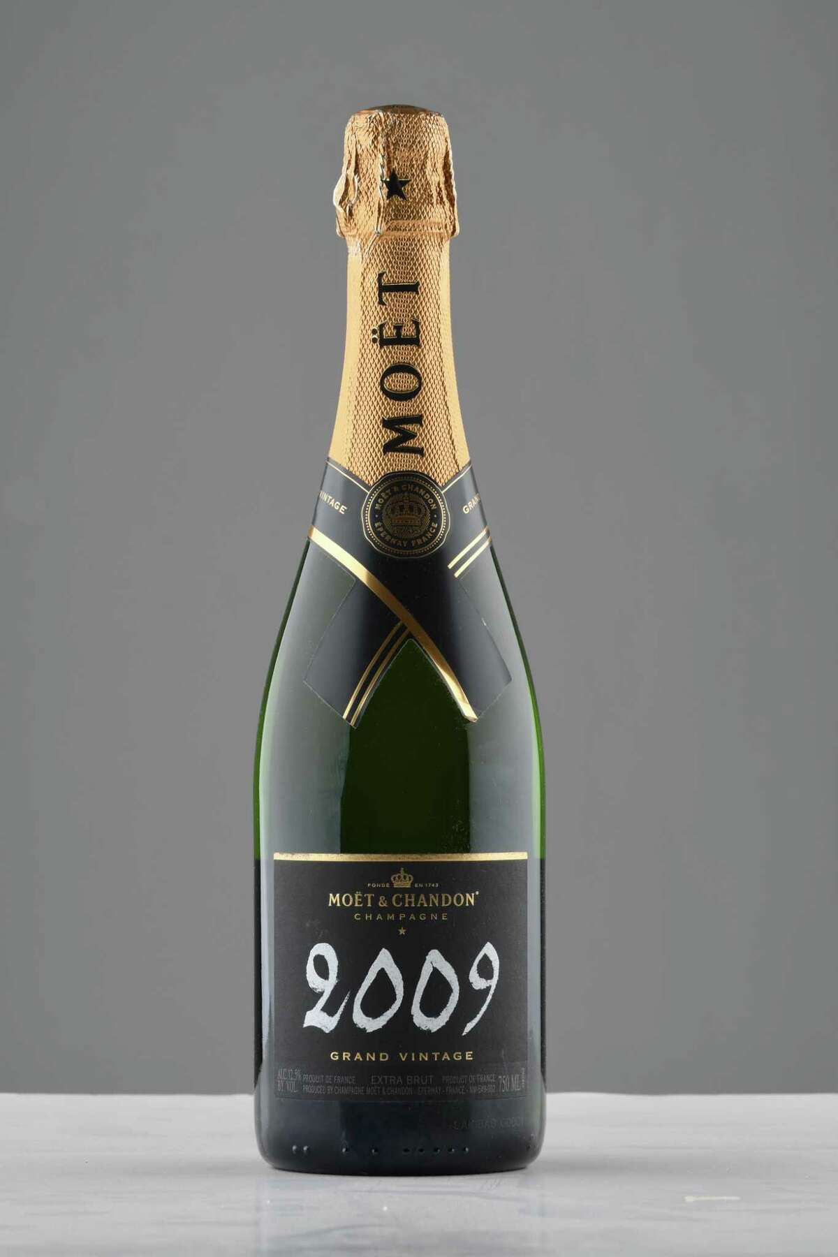 Moet Chandon grand vintage 2009 on Tuesday, Dec. 4, 2018, at the Times Union in Colonie, N.Y. (Will Waldron/Times Union)