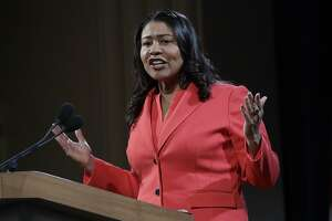 """FILE - In this Wednesday, Jan. 30, 2019, file photo, San Francisco Mayor London Breed speaks during her state of the city address in San Francisco. Nearly two dozen patients, many of them elderly dementia sufferers, were abused by employees at a public hospital, Laguna Honda Hospital and Rehabilitation Center, health department officials said Friday, June 28, 2019. Mayor Breed called the revelations """"profoundly hurtful, offensive, and heartbreaking for so many of us who care deeply about this hospital"""" and praised the health department's swift action in holding staff responsible """"for their horrific actions."""" (AP Photo/Jeff Chiu, File)"""