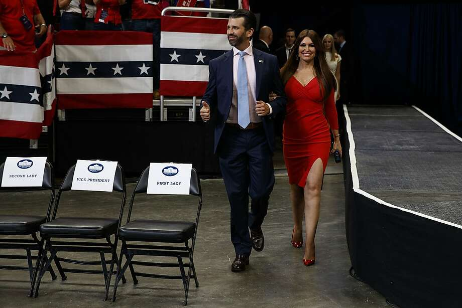 FILE -- Donald Trump Jr. and Kimberly Guilfoyle arrive for President Donald Trump's re-election kickoff rally at the Amway Center, Tuesday, June 18, 2019, in Orlando. (AP Photo/Evan Vucci) Photo: Evan Vucci / Associated Press