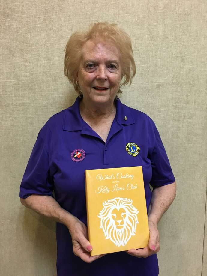 "Carol Barnett begins her term as president of the Katy Lions Club July 1. The club printed a cookbook as a fundraiser. Called ""What's Cooking at the Katy Lions Club,"" the book includes recipes contributed by members who represent a cross-section of backgrounds and cultures. The 276 recipes include some handed down through the years in families. The book sells for $15. Photo: Karen Zurawski / Karen Zurawski"