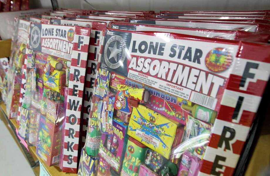 Asorted fireworks are seen inside Black Cat Fireworks Megastore along FM 1314, Monday, July 1, 2019, in Porter. Photo: Jason Fochtman, Houston Chronicle / Staff Photographer / Houston Chronicle