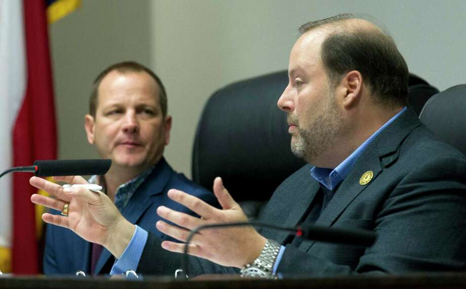 The Conroe City Council will host a public hearing at 9:30 a.m. Monday to discuss a potential tax rate increase for its $219 million budget for 2020. Mayor Pro Tem Duke Coon, who has maintained he wants to avoid a tax rate increase, presented more than $800,000 in reductions during the council's Aug. 8 public hearing. Photo: Jason Fochtman, Houston Chronicle / Staff Photographer / © 2019 Houston Chronicle