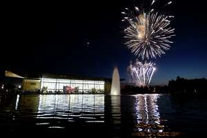 Fireworks light up the sky during the City of Beaumont's July 4 celebration at the Event Centre.   Photo taken Wednesday 7/4/18  Ryan Pelham/The Enterprise