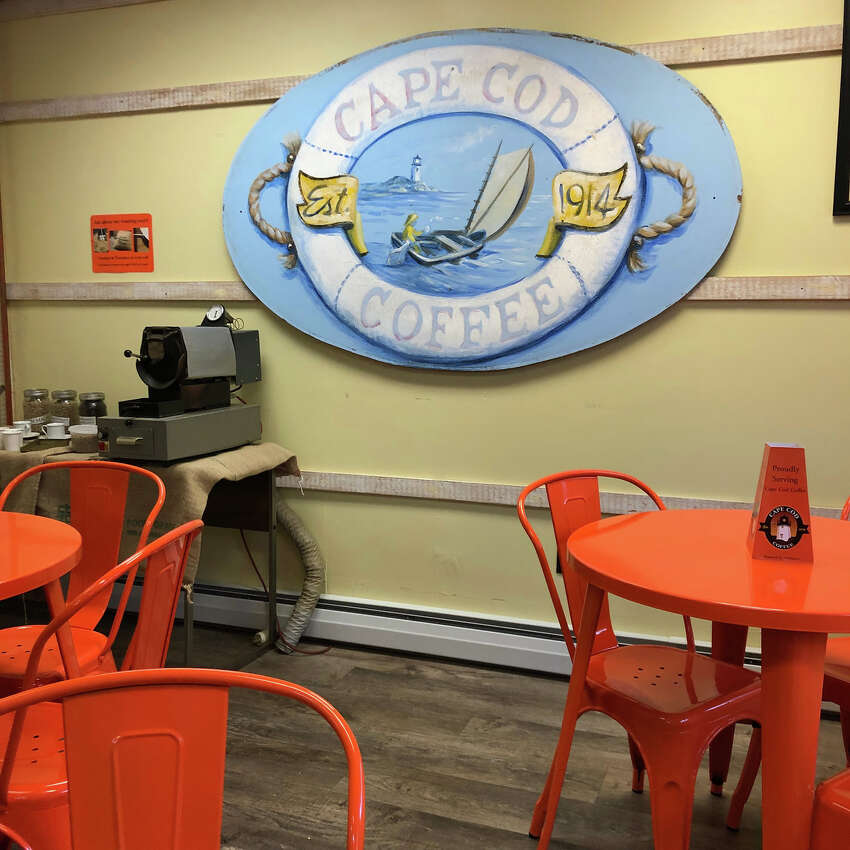 Cape Cod Coffee offers tours of its Mashpee storefront and roasting facility. (Joyce Bassett / Times Union)