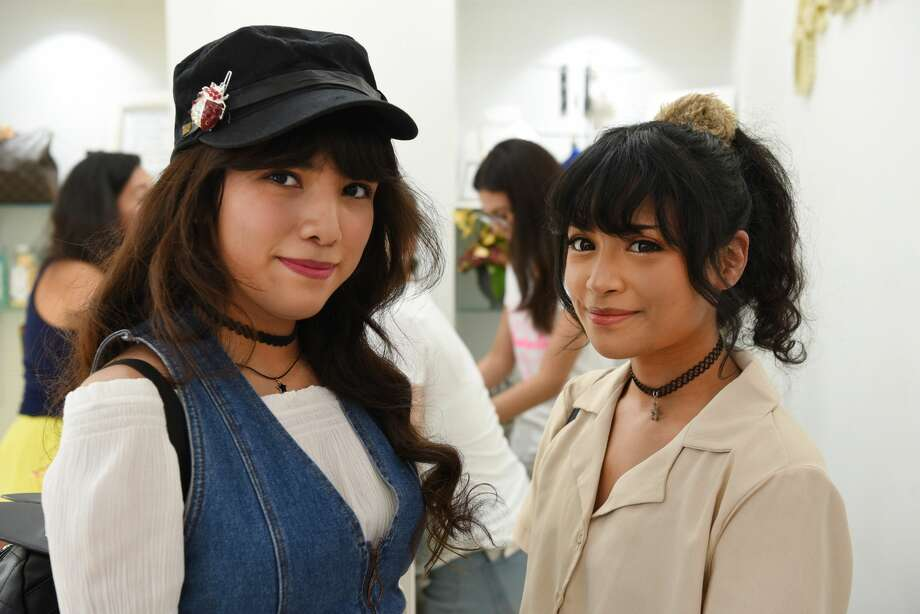 Alejandra Chavez and Denise Gomez pose for a photo during the Blogger and Influencer Meetup at Le Boutique Shop. Photo: Christian Alejandro Ocampo