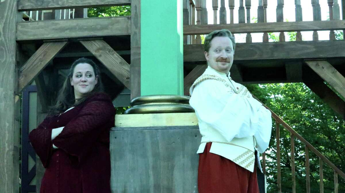 Beatrice and Benedick - who protest that they don't love each other throughout Shakespeare's comedy