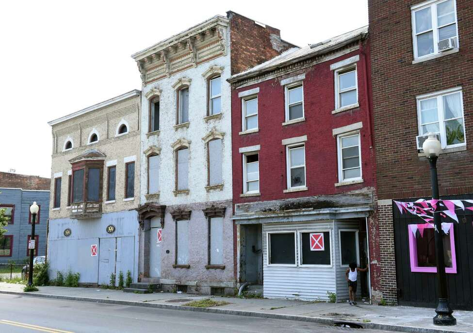 Blighted property on South Pearl St. in an opportunity zone on Wednesday, July 3, 2019 in Albany, N.Y. Opportunity zones are areas incentivized by the federal government for investment. (Lori Van Buren/Times Union)