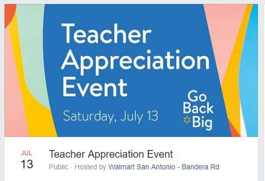 Educators have the opportunity to partake in some summertime fun at two free teacher-only events coming up this month in San Antonio. Photo: Facebook/ Walmart San Antonio
