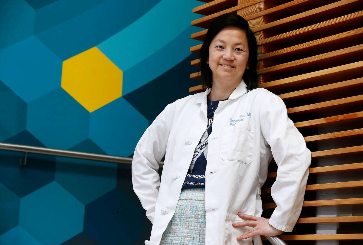 Dr. Sophia Yen, CEO and co-founder of Pandia Health, is seen at her health startup's office in Palo Alto, Calif. on Wednesday, June 5, 2019. Pandia offers online health consultations with doctors as well as free delivery of birth control pills.
