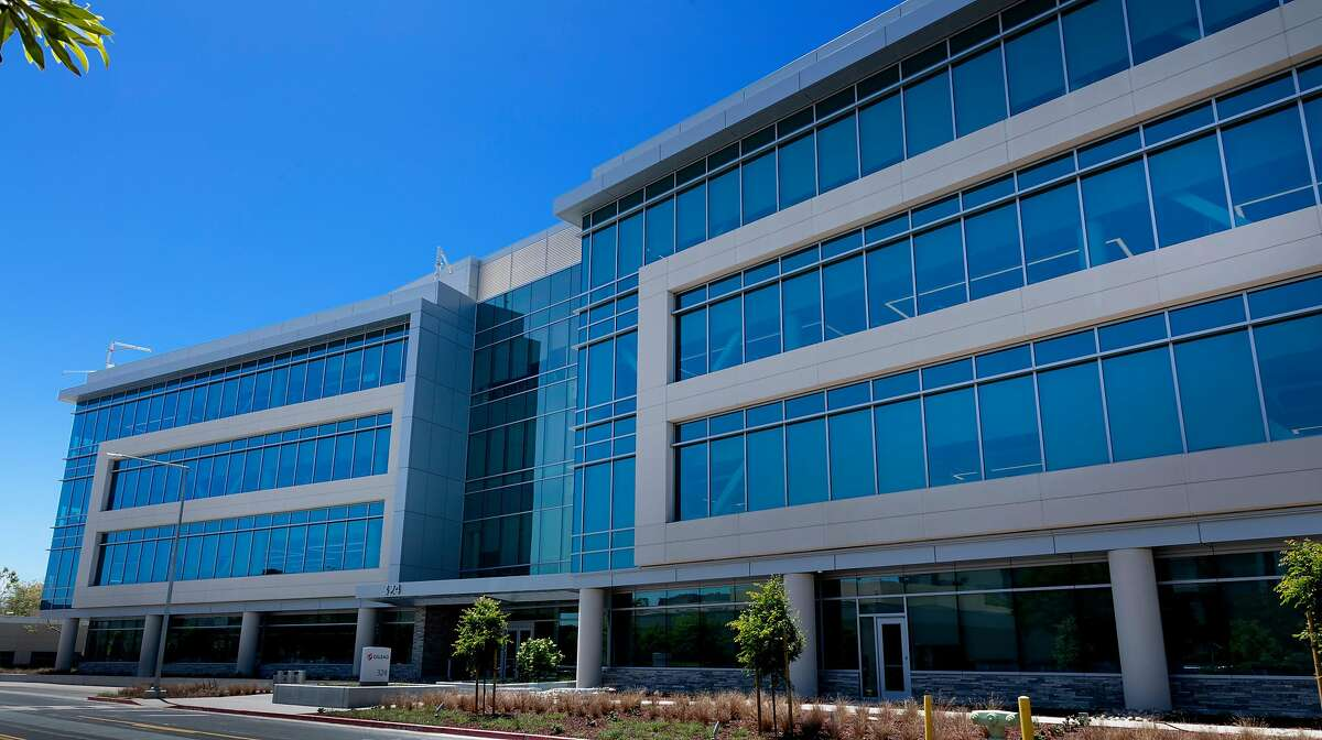 Two new office buildings at Gilead Science's headquarters in Foster City, including this research facility, were big contributors to San Mateo County's tax roll this year.