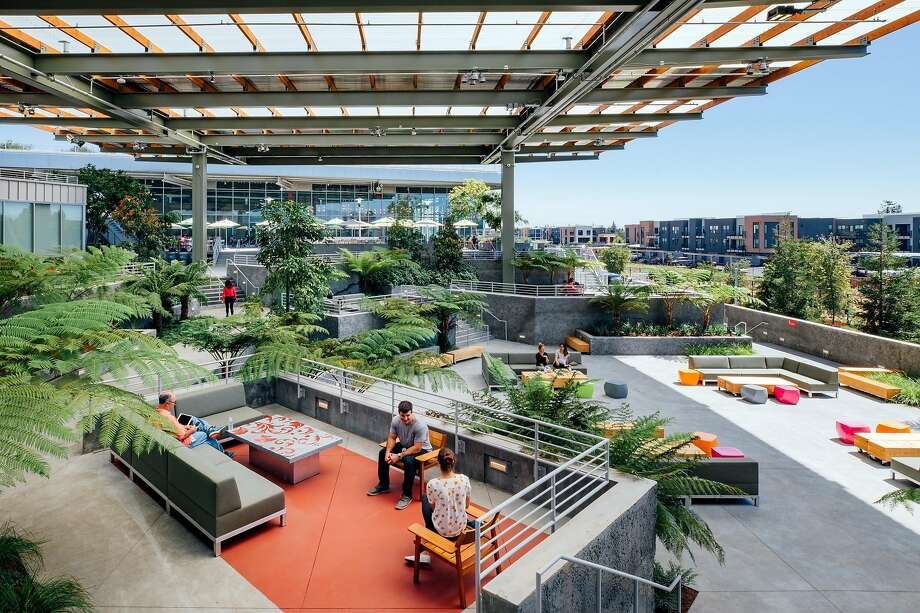 Facebook's headquarters building in Menlo Park, MPK 21, added $271 million to San Mateo County's roll. Photo: Facebook