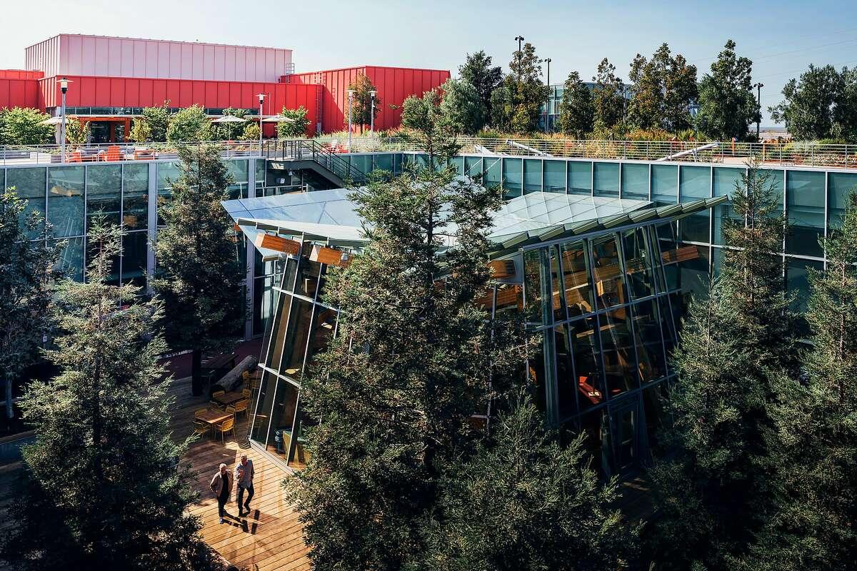 Frank Gehry designed Facebook's new headquarters building in Menlo Park.