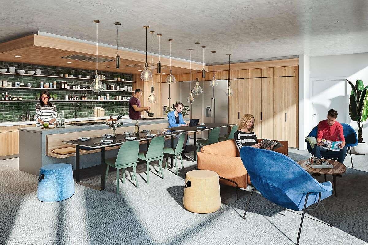 An artist's rendering depicts the amenities residents will enjoy at the new co-living facility under construction at 457 Minna Street.